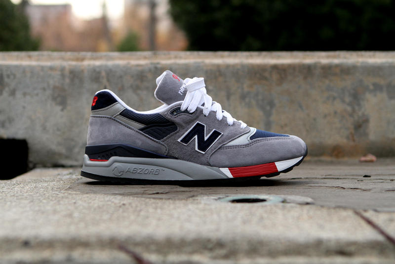 new arrival ea71f 84436 New Balance 998 Grey/Navy/Red | HYPEBEAST