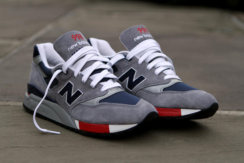 new arrival 94fcf 69f9f New Balance 998 Grey/Navy/Red | HYPEBEAST