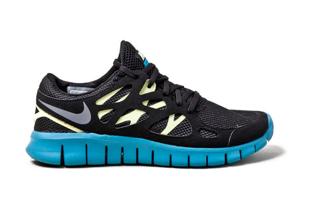 best sneakers f51cd 9002c Nike Free Run+ 2 Black Yellow-Blue