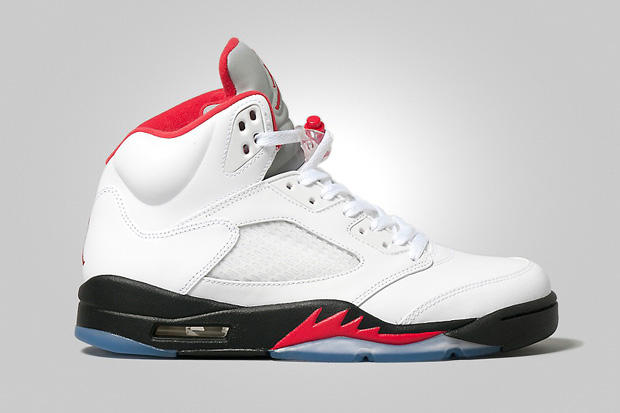 info for d39c5 ac1c5 Air Jordan 5 Retro White Fire Red-Black. Returning to celebrate the 23-year  anniversary of the original silhouette and last seen in 2008