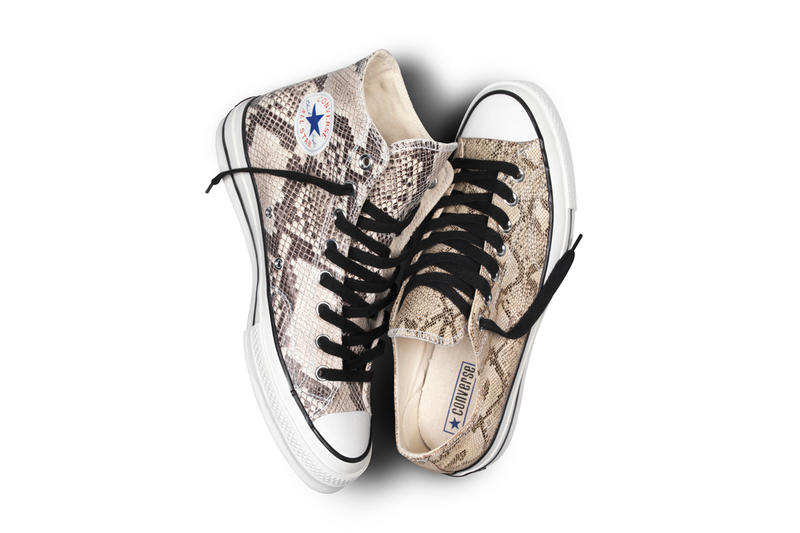 537a39f929e The Converse First String 1970s Chuck Taylor Snake Skin Pack is realized in  two spirited shoes for