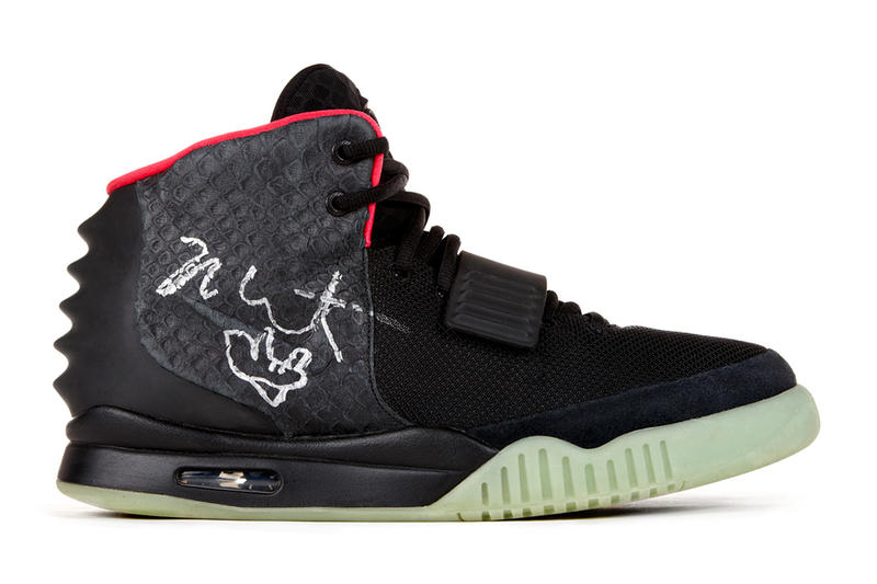 e85688964cca Kanye West s Signed Nike Air Yeezy 2 Sells for  98