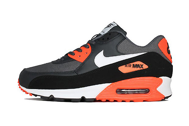 huge selection of 4bd5c a9cde ... Dark Grey White Total Crimson. The Nike Air Max 90 continues to receive  plenty of love this season as Nike adds to the Premium