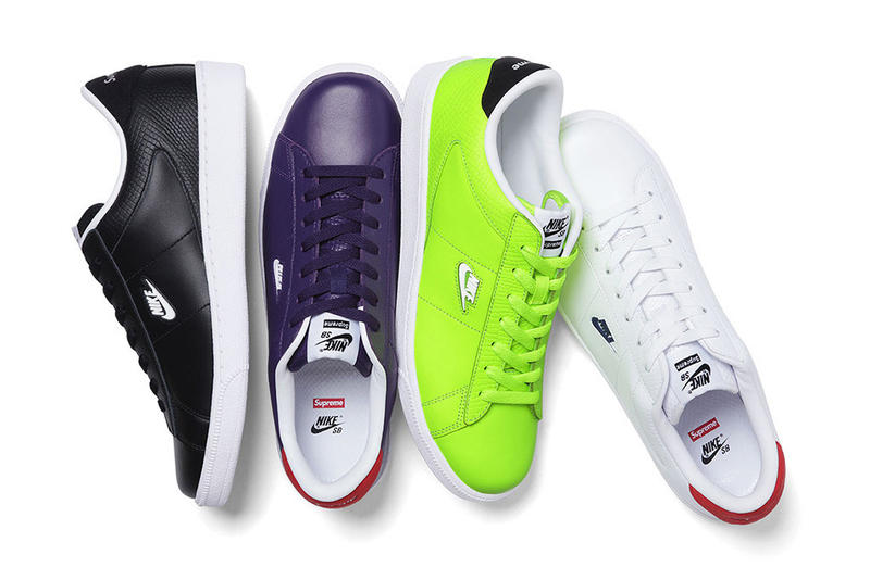 competitive price bf12b 82f03 After an early look a little while ago, the Supreme x Nike SB Tennis  Classic enjoys an official