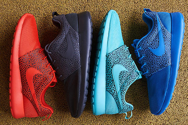 "3974781131b5 Nike s breakout hit the Roshe Run takes on a balance approached to this  latest ""Safari"" pack. While"