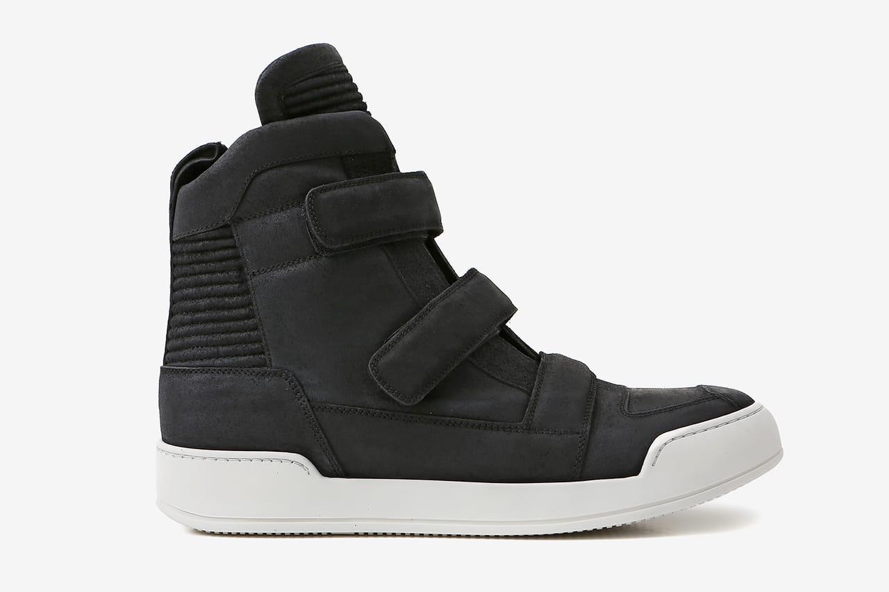 Balmain Black Velcro Tabs Leather High
