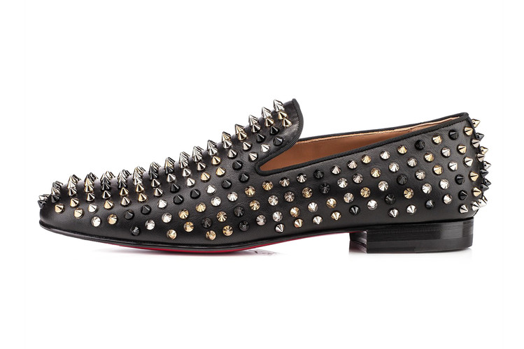 97f6347ecd73 Christian Louboutin Rollerboy Spiked Leather Loafers