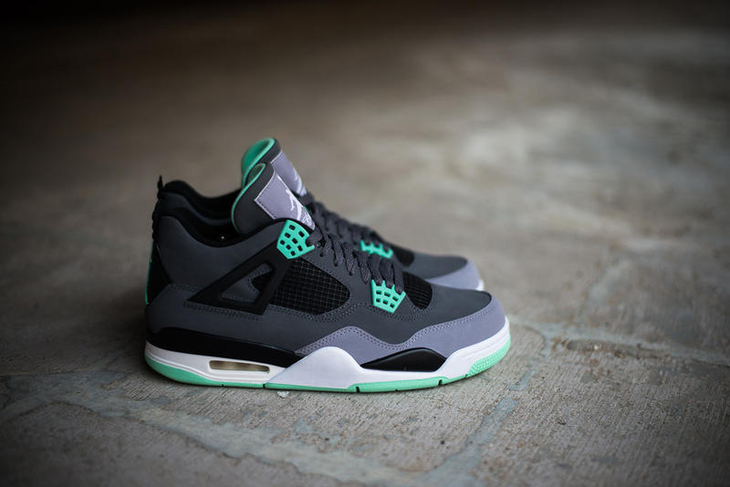 """huge selection of 5b4cf 24e61 A few months back, we got a glimpse at a mock-up to the Air Jordan 4 Retro """" Green Glow."""" Now, we"""
