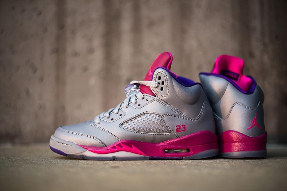 size 40 58517 d1ff8 Air Jordan 5 Retro Women s Cement Pink-Raspberry   HYPEBEAST