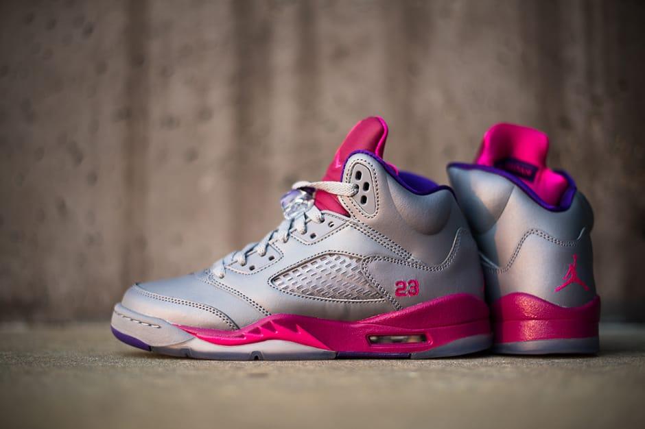Air Jordan 5 Retro Women's Cement/Pink