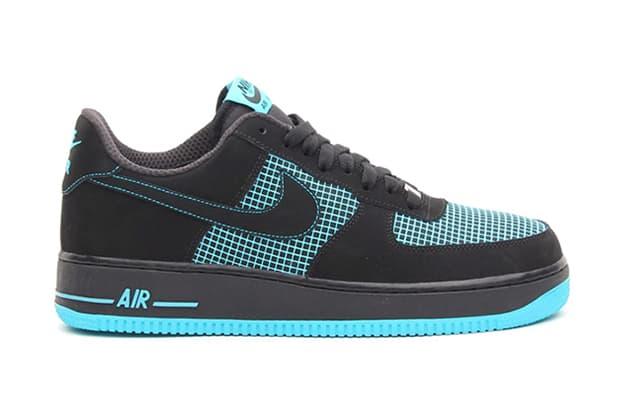 Nike Air Force 1 Black/Black/Gamma Blue