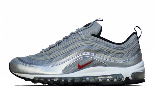 timeless design 967bd 6e9cd Nike Air Max 97 PRM Tape QS Metallic Silver Varsity Red. Not content with  simply re-tooling midsoles, Nike is upgrading some iconic uppers, too, with  the