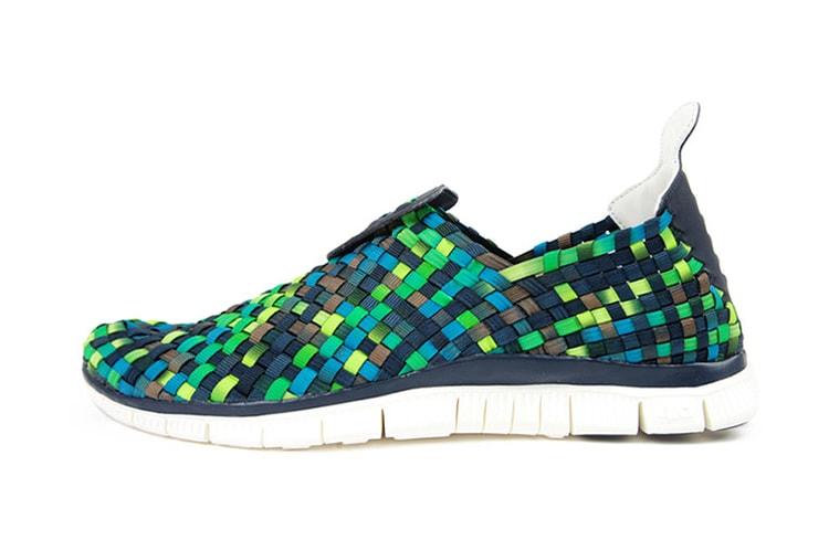 newest 4bf4d e8282 Nike Free Woven 4.0 ObsidianSquadron Blue-Smoke-Poison Green