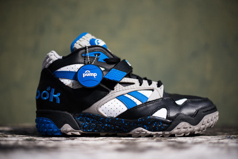 Reebok Pump Paydirt Mid Black Blue White  75f9b4c332