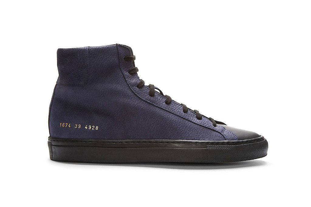 common projects black high tops