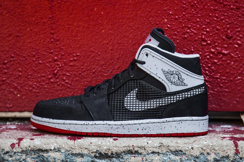 finest selection 837ad 6704f Air Jordan 1 Retro  89 Black Fire Red. Following Fire Red Cement Grey and  White Cement Grey-Black editions, Jordan Brand presents a
