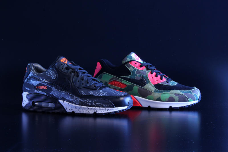save off 1fedd 98a47 Nike Air Max 90 Premium Camo Pack atmos Exclusive Preview. Summer may be  coming to an end, but the people at Nike have never been ones for cooling  off.
