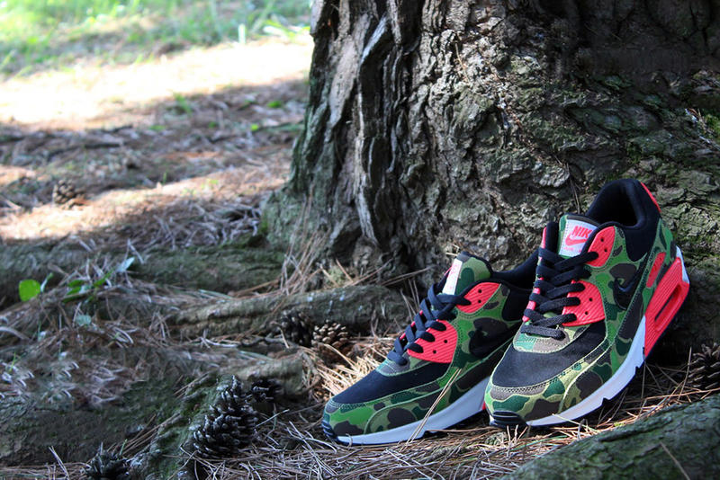 best service 77a25 d6fac Earlier this month we previewed the atmos exclusive Nike Air Max 90 Premium  Camo Pack. We now take