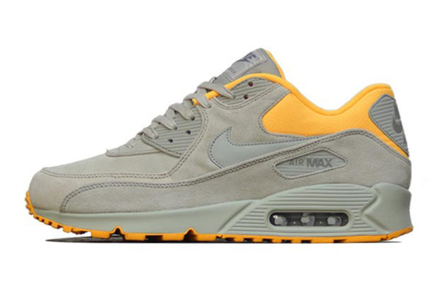 Nike Air Max 90 PRM Pale Grey/Laser Orange