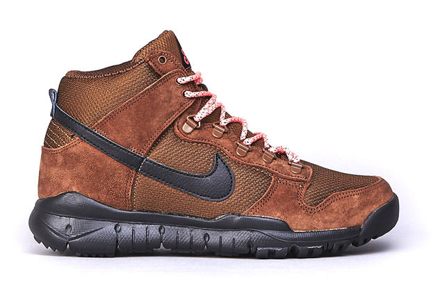 """reputable site eb4cc d413b From Nike SB s OMS (Off Mountain Series) collection comes the Dunk High OMS  """"Military Brown"""" boot."""