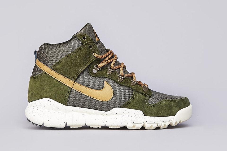 07e161bb0aa1d0 Nike SB Dunk High OMS Light Green Flat Gold Olive