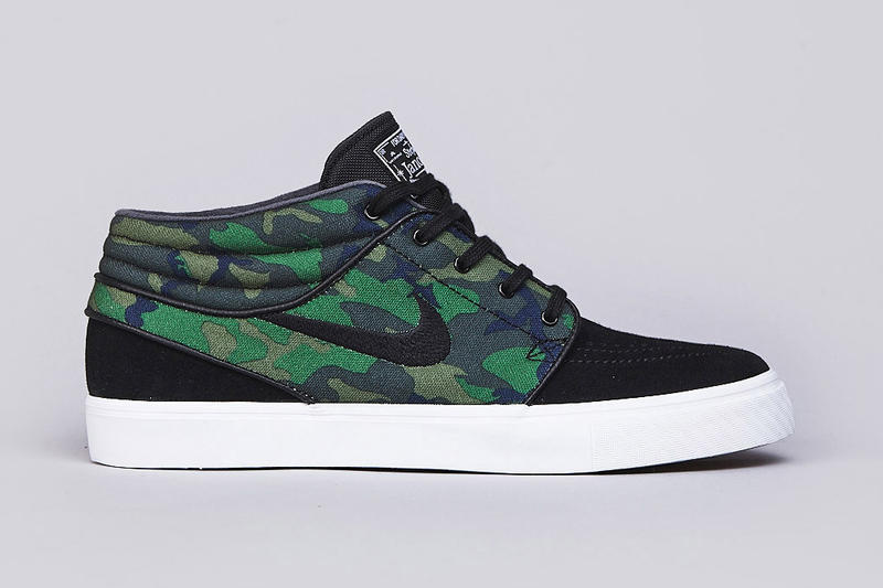 size 40 66ae7 4a64d Stefan Janoski s mid-top Nike SB signature is the latest silhouette to  receive the camo treatment