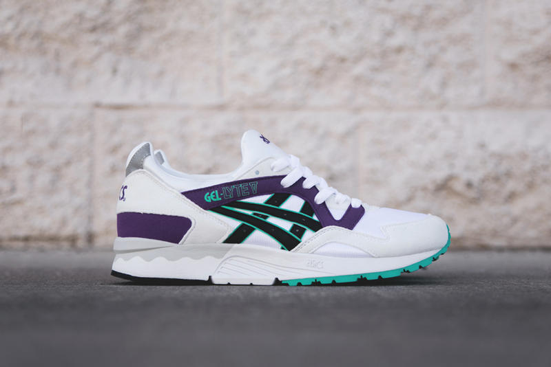 best sneakers 9f76f 0cf41 The ASICS Gel Lyte V is now back in its original white purple aqua makeup  from when the shoe first