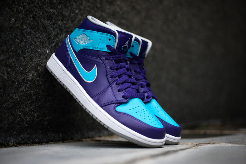 new style cd810 087a5 Air Jordan 1 Mid Purple Gamma Blue