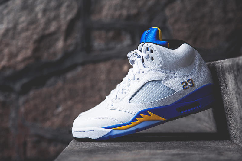 "96a3ba27b1c5d4 Next up for the Air Jordan 5 Retro silhouette is the ""Laney"" colorway. Last  released in 2000"