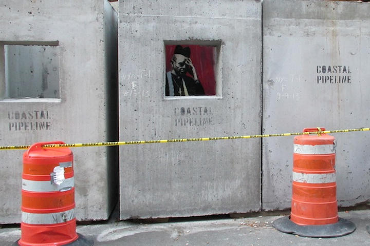 """Banksy's 'Concrete Confessional' for """"Better Out Than In"""""""