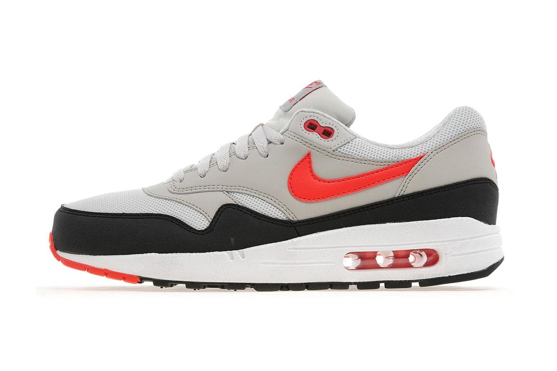 the latest 7cbc0 ec9d8 Nike Air Max 1 Light Bone/Black-Cherry Red JD Sports ...