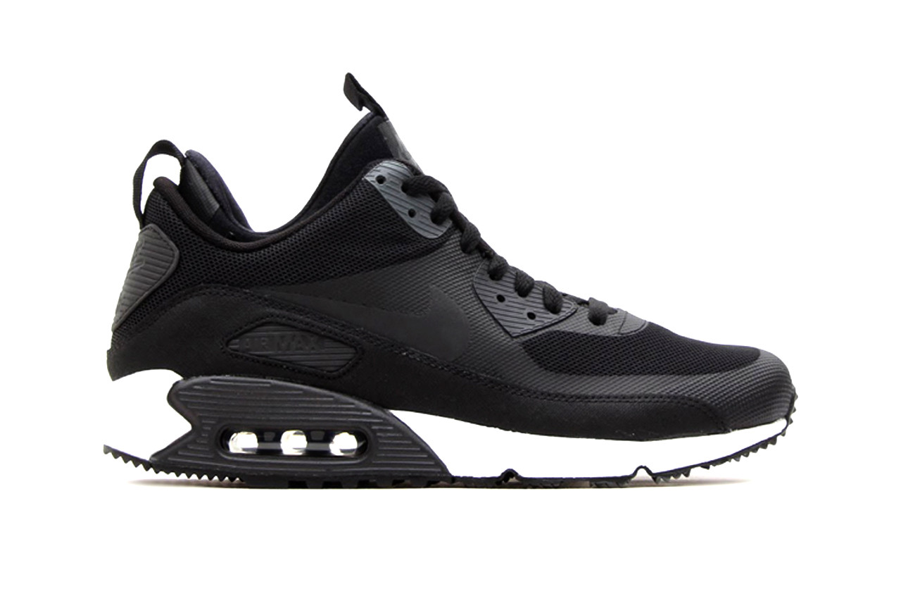 Nike Air Max 90 Sneakerboot Black/Dark Charcoal-White. Previewed late last  month as part of Nike\u0027s Sneakerboot collection for fall/winter, the Nike Air