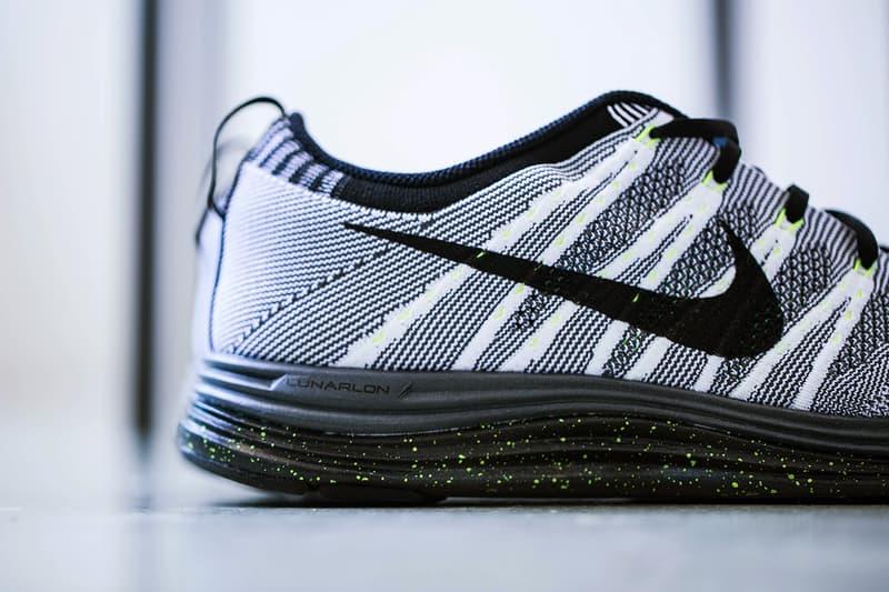 82ac60d6fa839 Nike Flyknit Lunar 1+ White Black-Dark Grey-Volt