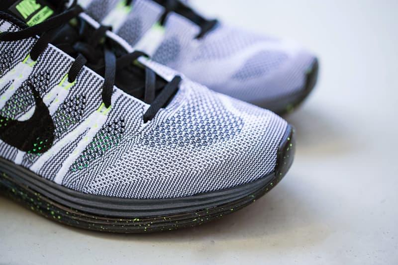 outlet store 09e25 b7296 Nike Flyknit Lunar 1+ White/Black-Dark Grey-Volt | HYPEBEAST