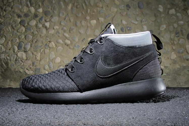 buy online 4d9bd eca52 Nike Roshe Run SneakerBoot Black Black-Silver