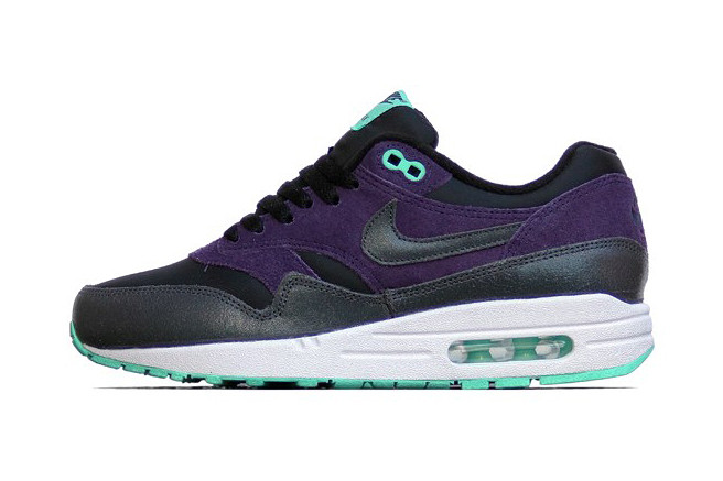 new style cabe1 967a5 Nike WMNS Air Max 1 Essential Black Anthracite-Purple Dynasty-Green Glow    HYPEBEAST