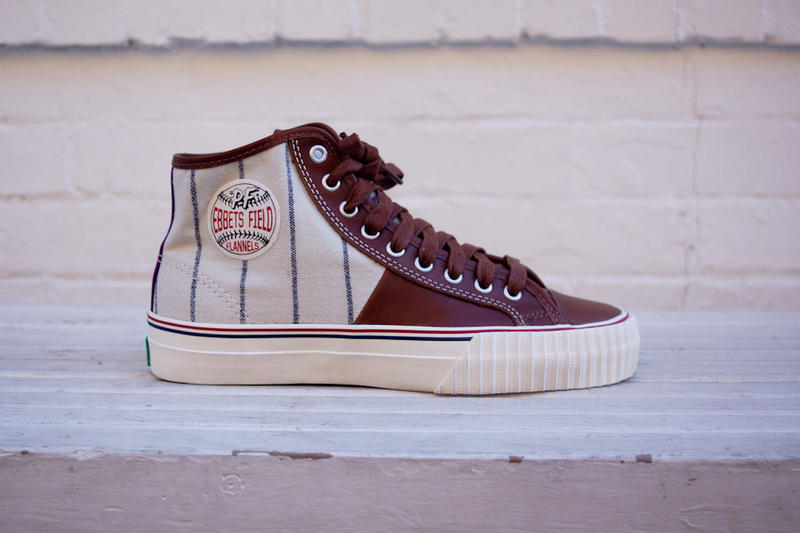 new product e5822 0a228 Ebbets Field Flannels and PF Flyers pay homage to the historic rivalry  between the New York Yankees