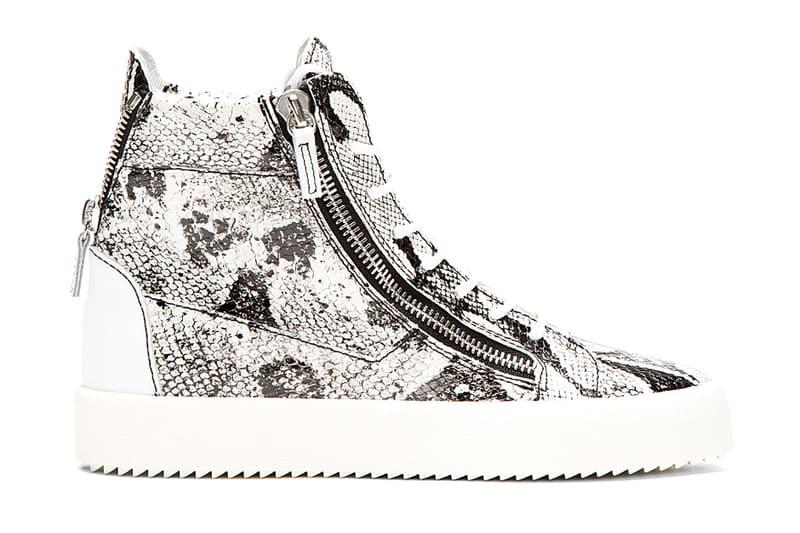 ab59466cefc04 Giuseppe Zanotti Python High-Top Sneakers White/Black | HYPEBEAST