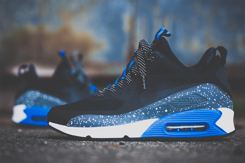 Just reaching retailers now is the Nike Air Max 90 Sneakerboot NS in this  slick royal metallic e9cbbba4e3
