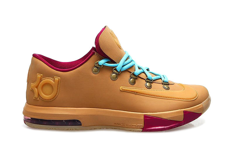 huge discount f94a6 4c929 Nike KD VI EXT Gum QS. Corresponding with NSW s new Air Force 1 Downtown Hi Gum  QS is a unique gum-covered take on Kevin