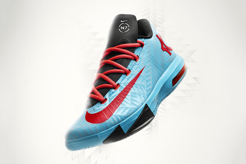sale retailer 3eb1b 8bced As the final piece to its 2013 Holiday N7 Collection, Nike premieres the KD  VI N7 in bold new