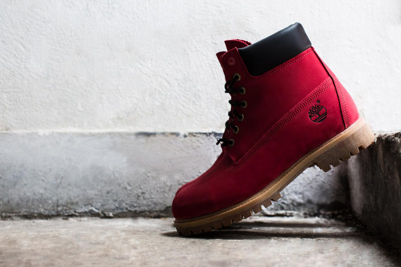 """VILLA x Timberland Limited-Edition """"Join the Movement"""" Ruby Red 6"""" Boot"""