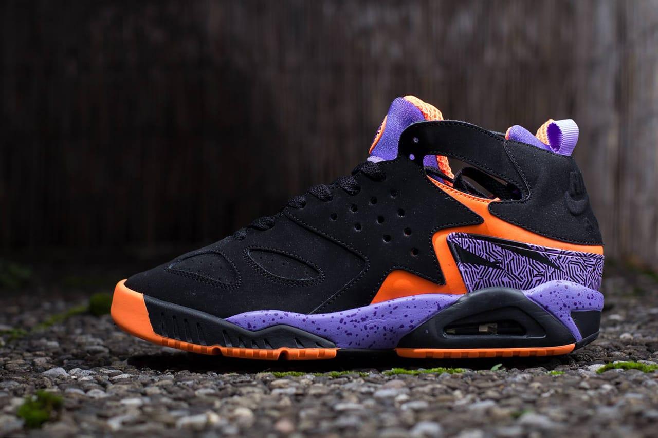 nike huarache black and purple