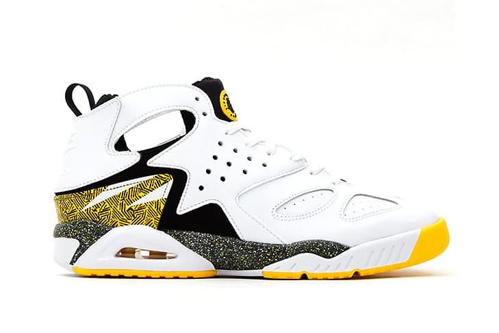 temperament shoes cheapest official store Nike Air Tech Challenge Huarache White/Black-Tour Yellow ...