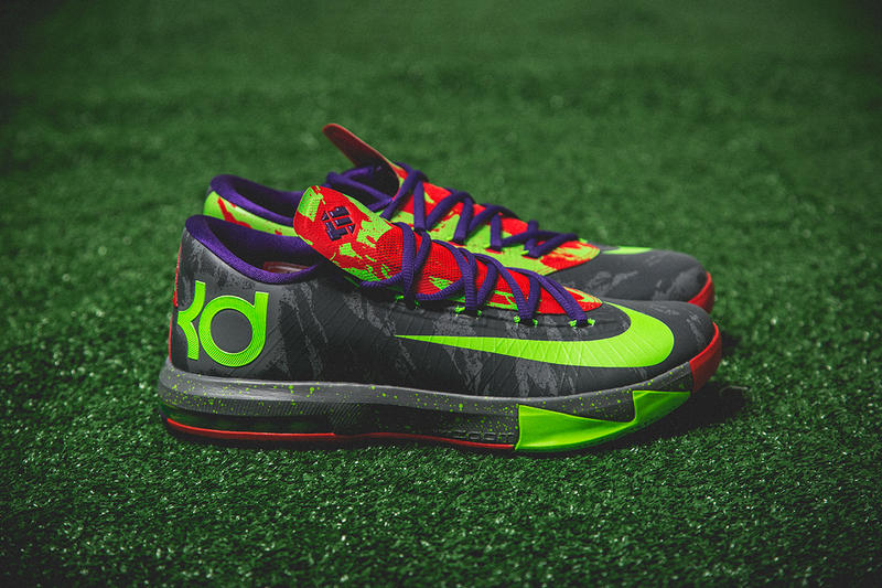"""premium selection 9cd41 325be Coming through in colors last seen on the KD """"Nerf"""" colorways, Nike  presents the bold KD VI"""