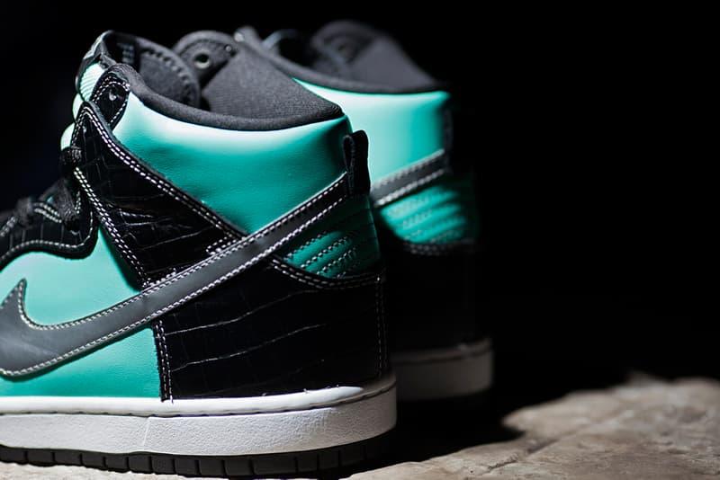 "sale retailer dcf1d c3e24 Diamond Supply Co. x Nike SB Dunk High ""Diamond"" Preview ..."