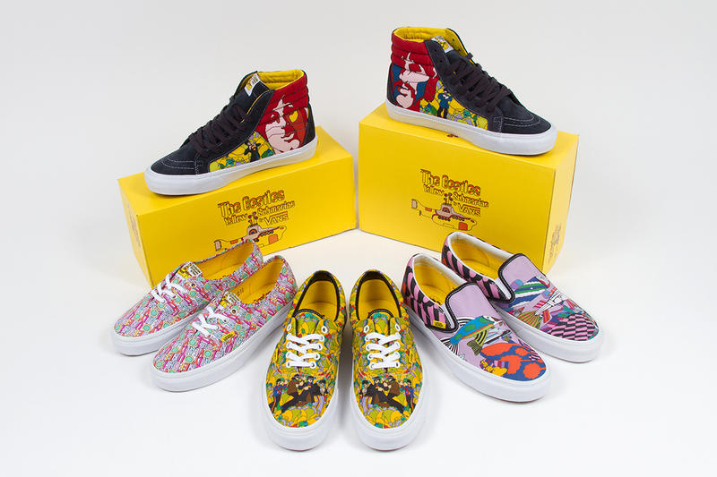 """The Beatles x Vans """"Yellow Submarine"""" Collection"""