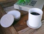 """(multee)project """"Wabi-sabi"""" Concrete Coaster Set"""