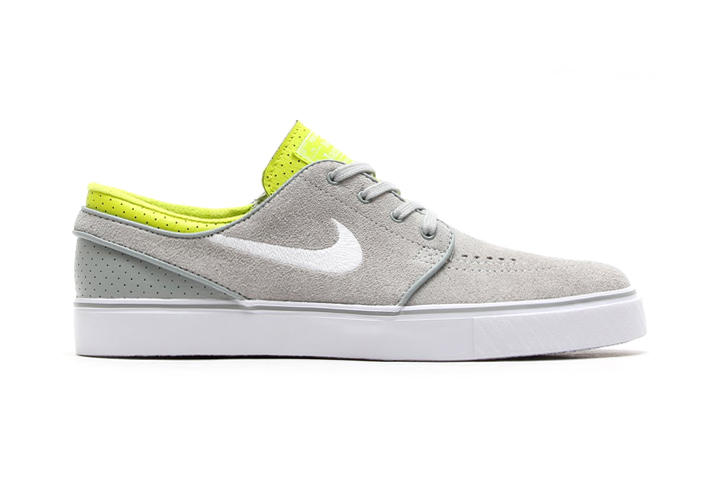 low priced 4718b a9642 Nike SB Zoom Stefan Janoski Base Grey White-Venom Green. While a stylish  canvas edition may have released yesterday, today Nike SB returns to basics,
