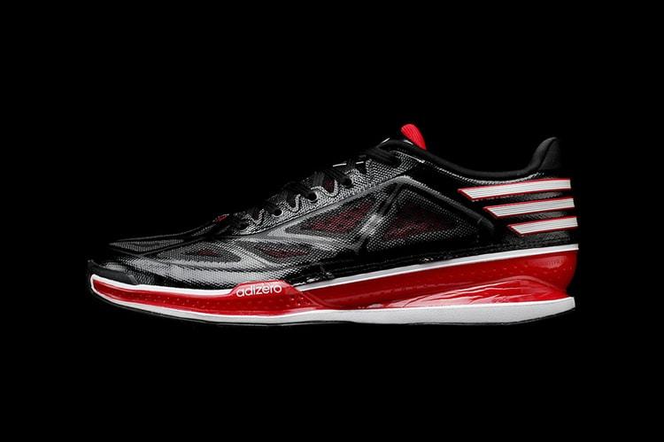meet 3f603 44e26 ... adidas adiZero Crazy Light 3 Low BlackWhiteRed the sale of shoes a6e36  f517d ...